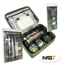 NGT PVA rig storage case with PVA & terminal session set,carp fishing tackle New