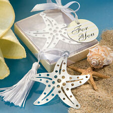80 Starfish Bookmark Wedding Favor Bridal Showers Favor Beach Theme