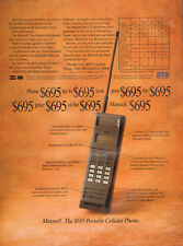 1989 vintage AD MAXWELL the $695 Portable CELLULAR PHONE one of the 1st  073116