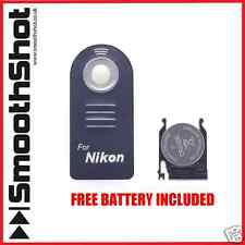 WIRELESS REMOTE CONTROL IR PER NIKON ML-L3 D3000 D3200 D5000 D5100 D40x D70 UK
