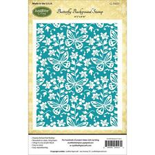BUTTERFLY BACKGROUND Cling Unmounted Rubber Stamp by JustRight CL-05027 NEW