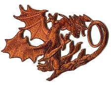 DRAGON bronze EMBROIDERED IRON-ON PATCH **FREE SHIPPING** -c p3511
