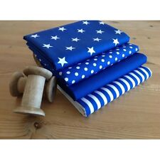 Royal Blue Fat Quarter Bundle 100% cotton ~ blue blenders