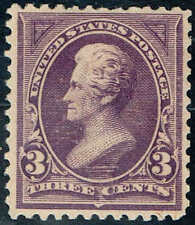 #253  1894 3 CENT JACKSON BUREAU ISSUE MINT-OG/LH