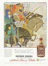 1958 Chivas Regal Vintage Scotch Whisky Bottle Knight on Horseback PRINT AD