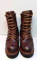 MEN'S RED WING LOGGERMAX  LOGGER WORK BOOTS STYLE 620 Size 9 EE WATERPROOF EH
