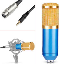 NW-800 Professional Condenser Microphone+Anti-wind Foam Cap+Cable (Blue) FX#18