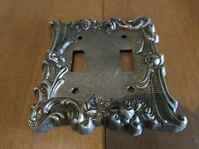 Vintage Edmar Creations Floral Scroll Pattern Metal Switch Plate/Cover Size 60TT