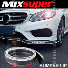 MIXSUPER Rubber Bumper Lip Splitter Chin Spoiler EZ Protector CHROME for Benz