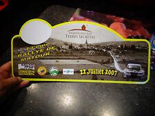Plaque du Rallye de Matour 23007 Peugeot 207