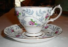 "VINTAGE ROYAL ALBERT BONE CHINA ""CONWAY"" TEACUP & SAUCER GOLD GILT  FAST SHIP!!"