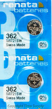 2 pc 362 Renata Watch Batteries SR721SW FREE SHIP 0% MERCURY
