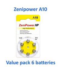hearing aid batteries size 10 Value pack 6 batteries Fresh Expire 2018