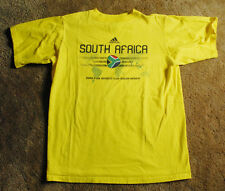 SOUTH AFRICA 2010 WORLD yellow t shirt size youth L short sleeve FIFA adidas