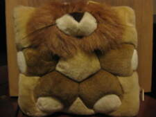 "Angel Toy Co.Throw Pillow 11"" square with  Plush Stuffed Novelty Lion 1998"