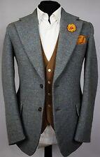 Harris Tweed Blazer Jacket Baron Piccadilly Wedding Country 38R SUPERB 501