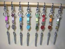 Edler Schlüssel-/Taschenanhänger mit Perlen + Strass