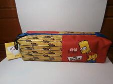 Bustina bauletto BART SIMPSON cod.43047 rosso 22x7 cm astuccio scuola Cartorama