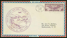 1931 FIRST FLIGHT AIR MAIL ROUTE AM 19 FLORENCE, SC - C12 FRANKING (ESP#1438)
