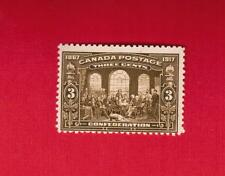 1917  #  135 ** FNH  TIMBRE  CANADA STAMP  50TH ANNIV OF CONFEDERATION