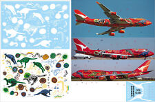 1/144 Boeing 747-400 PAS-DECALS Rus-Air QANTAS