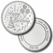 2016 Happy Birthday 1 oz .999 Silver Round USA Made ALL American Bullion Coin