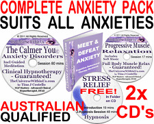 *SALE* 2x CD ANXIETY DISORDERS SET CLINICAL HYPNOTHERAPY PACK HYPNOSIS NLP + CBT