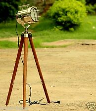 Nautical Floor Lamp With Tripod LED Studio Light Vintage Stand Home Decoratative