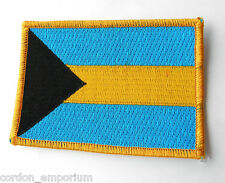BAHAMAS EMBROIDERED WORLD COUNTRY FLAG PATCH 2 X 3 INCHES