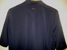GREG NORMAN PLAY DRY WICKING RAINBOW SHARK BACK NEW YORK  PGA LOGO GOLF SHIRT- L