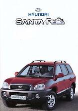 Hyundai Santa Fe Prospekt 2/01 brochure 2001 Autoprospekt AWD Auto Pkw Korea