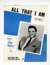 ELVIS PRESLEY Sheet Music 1966 All That I Am BRITISH