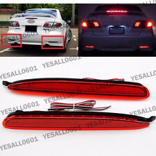 2x LED Rear Bumper Reflector Lens Stop Tail Brake Lights For Mazda 6 2003-2008