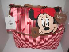 DISNEY STORE Minnie Mouse Diaper Bag BABYMEL Red STRIPES NEW w TAGS