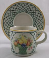 Villeroy & and Boch BASKET large breakfast cup and saucer