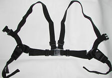 HARNESS REINS for BABY in SILVER CROSS WILSON COACH BUILT PRAMS - BLACK