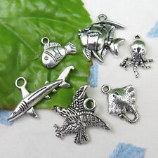 6 FINDING NEMO Theme Tibetan Silver Charm Set Collection Clown Fish Dory Shark