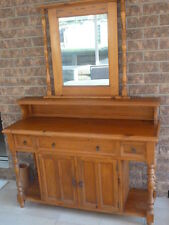 Sideboard with mirror - pine timber