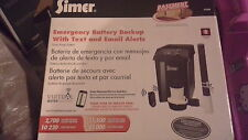 Simer emergency battery backup with text and email alerts