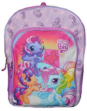 "Backpack 16"" Multi-Compartment My Little Pony Girl Pink New"