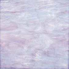 8x10 Sheet Spectrum Pale Lavender & White Translucent Stained Glass S843.71