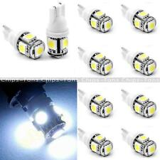 10PCS T10 5050 W5W 5 SMD 194 168 LED White Car Side Wedge Tail Light Lamp 12*30m