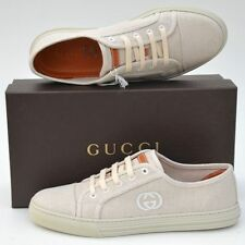 GUCCI New sz 39.5 G - 10 Authentic Womens Designer GG Logo Sneakers Shoes