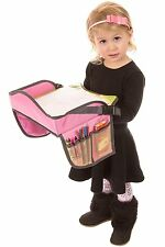 Childrens Travel Tray – Kids Play Tray for Snacks Car Bus Plane-Small-Pink