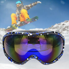 New Snowmobile Motorcycle Ski Goggles Eyewear Blue and Black Frame Coloured Lens