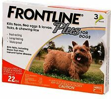 Frontline Plus for Small Dogs 5-22 lbs (2-10 kg) 3 Month Supply 3 Applicators