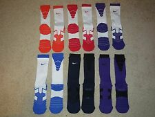 Men's Nike Elite Vapor Cushioned Football Crew Socks -Pack of 2- Sz L 8-12 -NEW