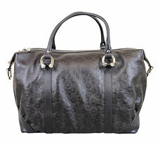 New Authentic GUCCI Horsebit Leather Large Boston Bag Handbag,Brown, 289718 2038