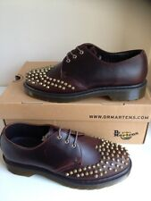Bnib! Sz7 Dr. Martens Edison Juniper Dark Brown Leather Studded Shoes Eu41