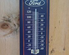 NEW FORD METAL THERMOMETER  MUSTANG F150 VINTAGE GARAGE SHOP MAN CAVE DISPLAY